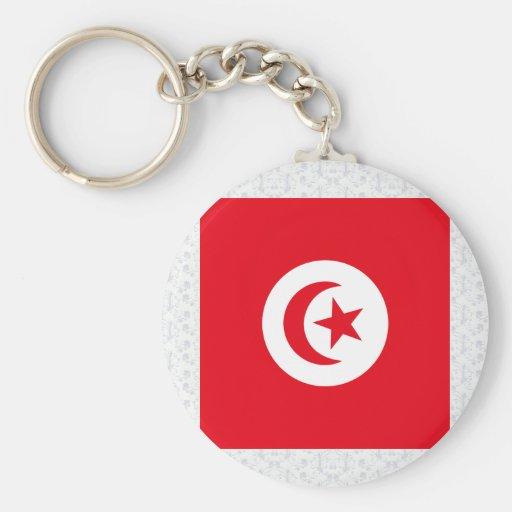 Tunisia High quality Flag Keychain