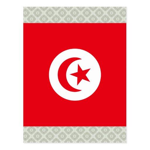 Tunisia High quality Flag Post Card