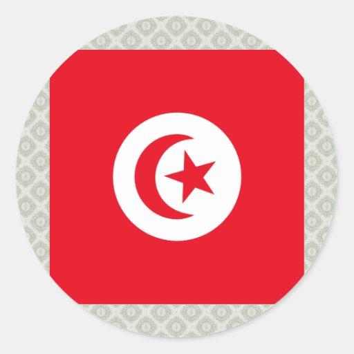 Tunisia High quality Flag Sticker