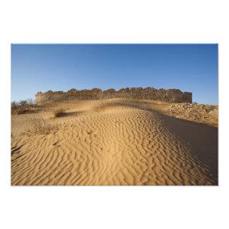 Tunisia, Ksour Area, Ksar Ghilane, Grand Erg Photo Print