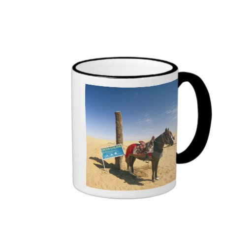 Tunisia, Ksour Area, Ksar Ghilane, horse in the Coffee Mugs