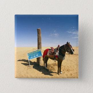 Tunisia, Ksour Area, Ksar Ghilane, horse in the Pinback Button