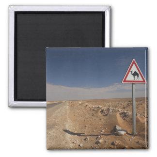 Tunisia, Ksour Area, Ksar Ghilane, Oil Pipeline 2 Inch Square Magnet