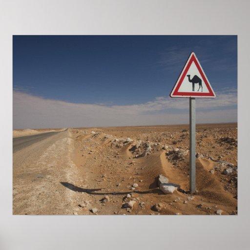 Tunisia, Ksour Area, Ksar Ghilane, Oil Pipeline Poster