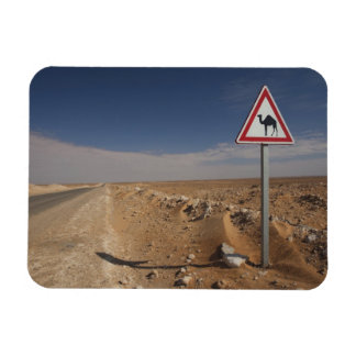 Tunisia, Ksour Area, Ksar Ghilane, Oil Pipeline Rectangular Photo Magnet