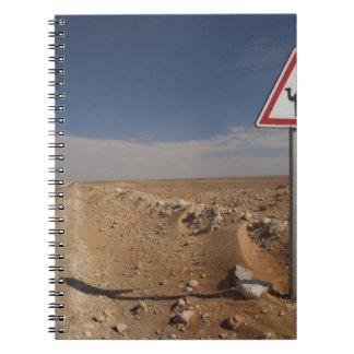 Tunisia, Ksour Area, Ksar Ghilane, Oil Pipeline Spiral Notebook
