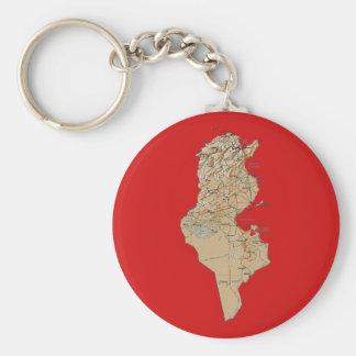 Tunisia Map Keychain