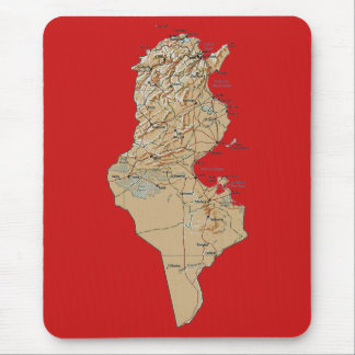 Tunisia Map Mousepad