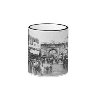 Tunisia Porte De France 1895 Ringer Mug