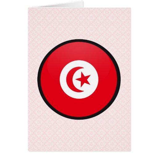 Tunisia quality Flag Circle Cards