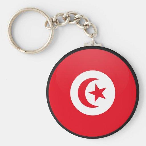 Tunisia quality Flag Circle Key Chains