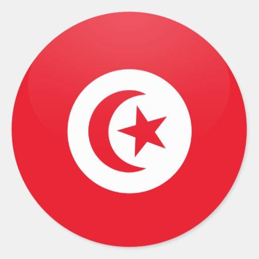 Tunisia quality Flag Circle Round Stickers