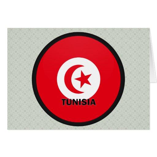 Tunisia Roundel quality Flag Card