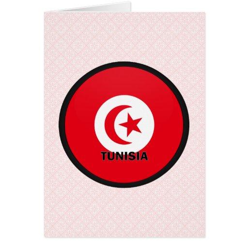 Tunisia Roundel quality Flag Greeting Card