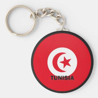 Tunisia Roundel quality Flag Keychain