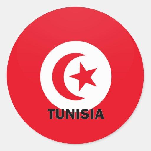 Tunisia Roundel quality Flag Round Stickers