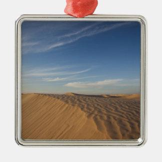 Tunisia, Sahara Desert, Douz, Great Dune, dusk Metal Ornament