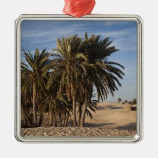 Tunisia, Sahara Desert, Douz, Great Dune, palm Metal Ornament