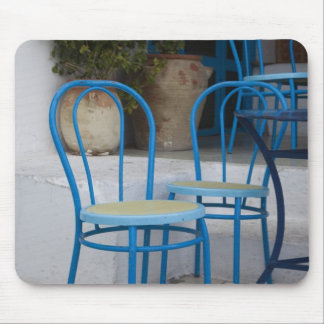 Tunisia, Sidi Bou Said, cafe chairs Mouse Pad