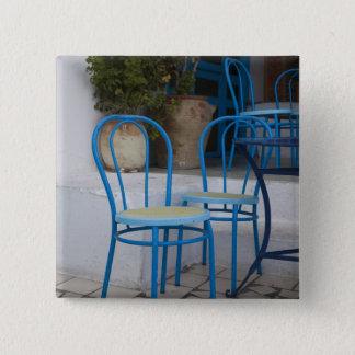 Tunisia, Sidi Bou Said, cafe chairs Pinback Button