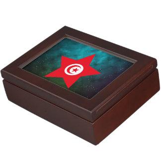 Tunisia Star Design Flag Memory Box