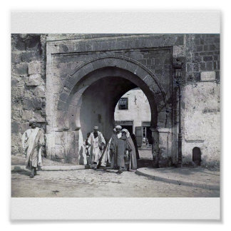 Tunisia Tunis / Bab menara 1900 Poster