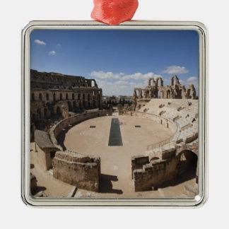 Tunisia, Tunisian Central Coast, El Jem, Roman 6 Square Metal Christmas Ornament
