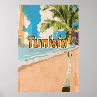 Tunisia Vintage vacation Poster