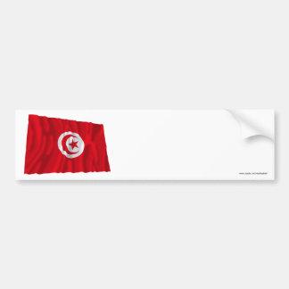 Tunisia Waving Flag Bumper Sticker
