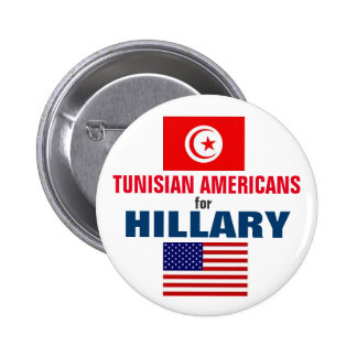 Tunisian Americans for Hillary 2016 Button
