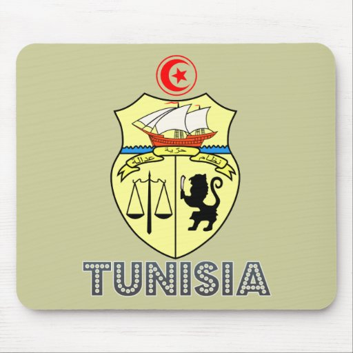 Tunisian Emblem Mouse Pad