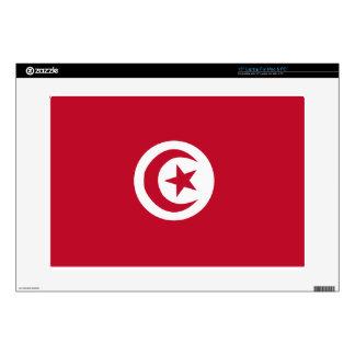 "Tunisian flag 15"" laptop decal"