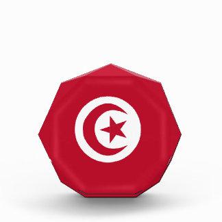 Tunisian flag acrylic award