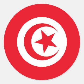 Tunisian Flag Classic Round Sticker