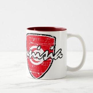 Tunisian flag design Two-Tone coffee mug