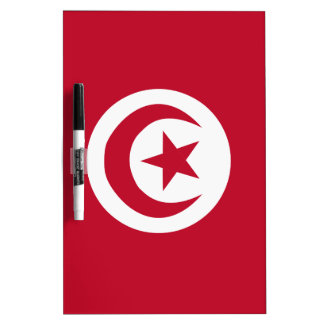 Tunisian flag dry erase board