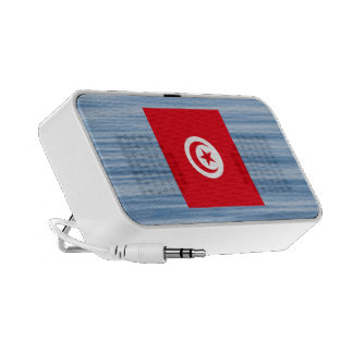 Tunisian Flag Floating on water Portable Speakers