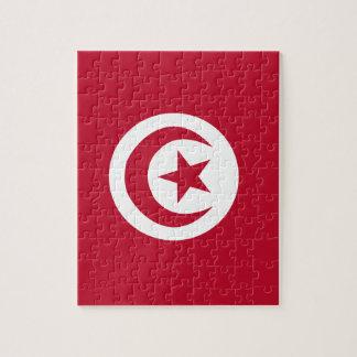 Tunisian flag jigsaw puzzle