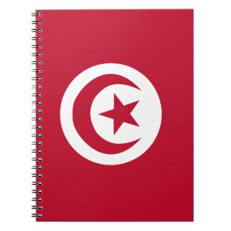 Tunisian flag notebook