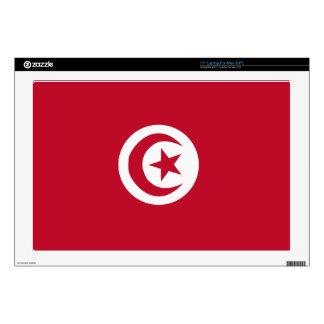Tunisian flag skins for laptops