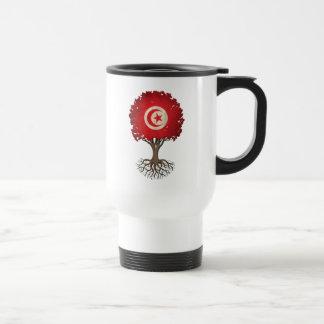 Tunisian Flag Tree of Life Customizable Travel Mug