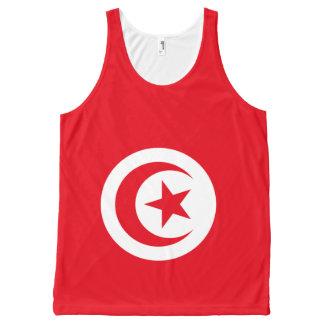 Tunisian National flag T shirt All-Over Print Tank Top