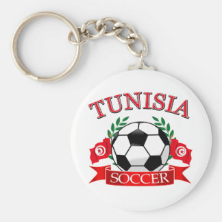 Tunisian Soccer Designs Basic Round Button Keychain