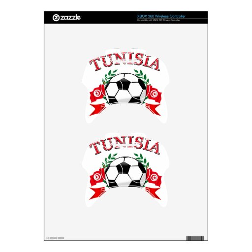 Tunisian Soccer Designs Xbox 360 Controller Skins