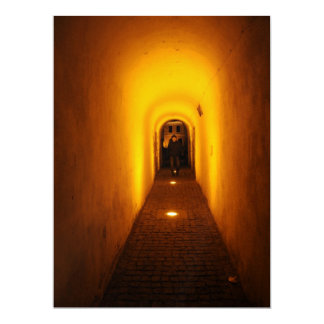 Tunnel at night 6.5x8.75 paper invitation card