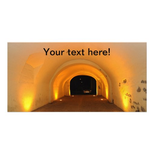 Tunnel at night photo card