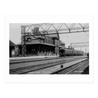 Tunnel Depot, Port Huron, Michigan  - Louis Pesha Postcard