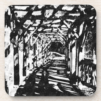 Tunnel Halftone Beverage Coaster