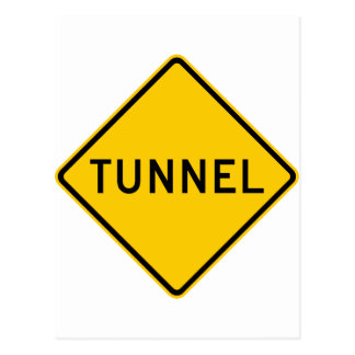 Tunnel Highway Sign Postcard