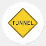 Tunnel Highway Sign Sticker